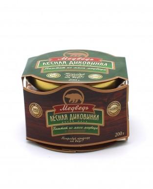 Па/ штет из мяса медведя с брусникой (стекло) 200 гр
