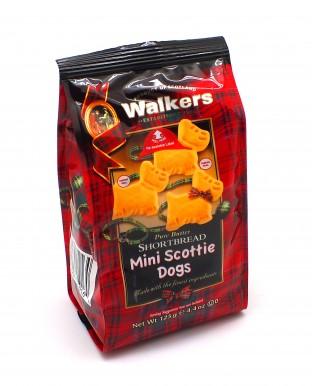 """Мини-печенье Walkers песочное """"Шотландский терьер"""" 125 г (полимер)"""