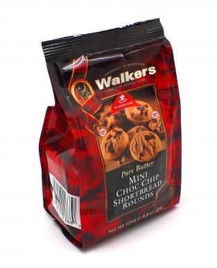 """Мини-печенье Walkers песочное """"Круглое и с шоколадной крошкой"""" 125 г (полимер)"""